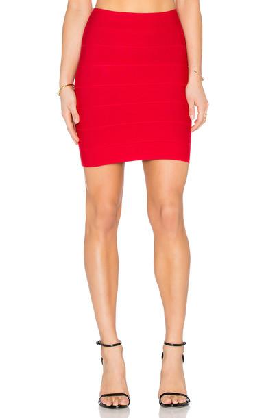 BCBGMAXAZRIA skirt red