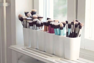 make-up makeup brushes beauty organizer home accessory