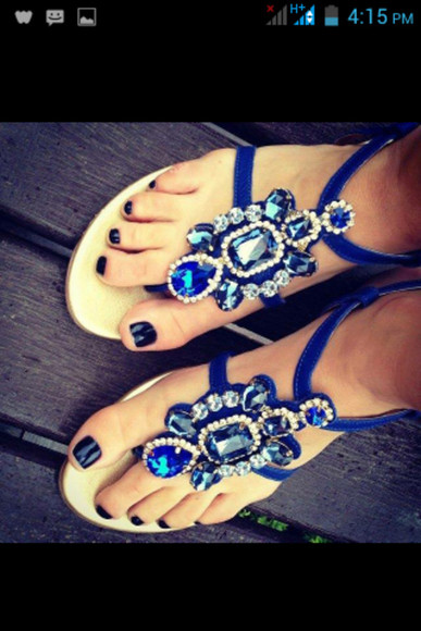 diamond blue shoes sandals