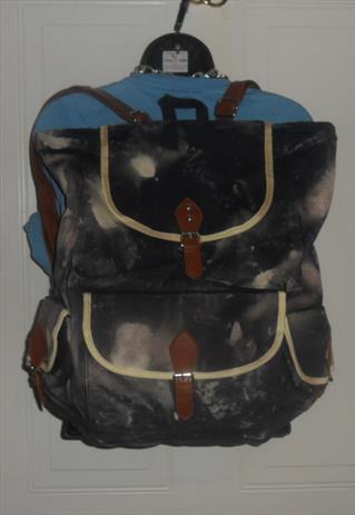 Acid wash rucksack backpack grunge festival skater
