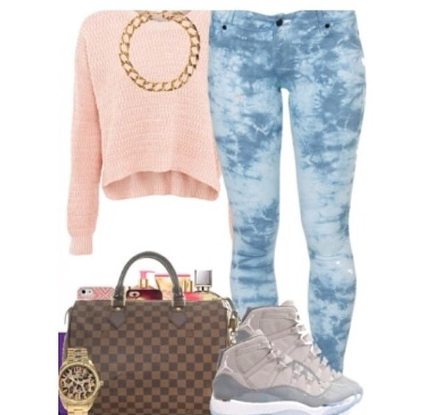 bag top shoes jeans jewels