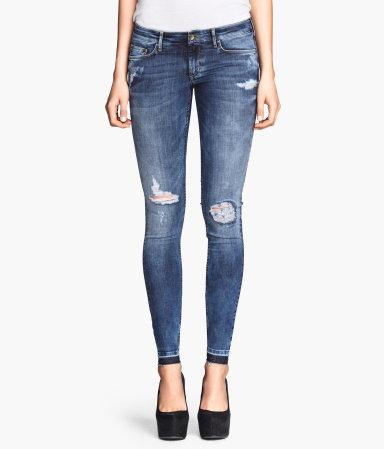 H&M Super Skinny Super Low Jeans 999 Kč
