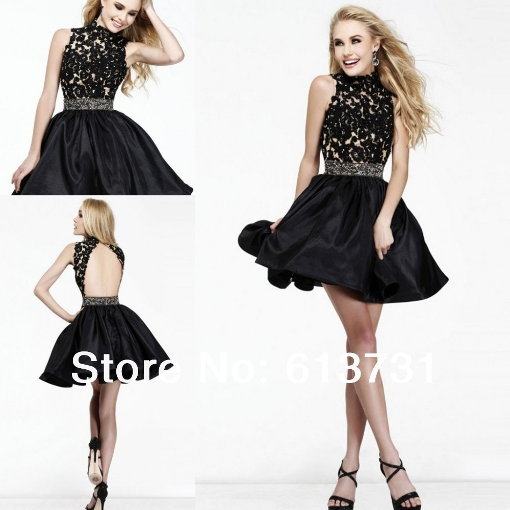 com : Buy 2014 New Style Sparkly High Neck Open Back Beaded Lace ...