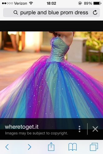 dress blue and purple dress ball gown