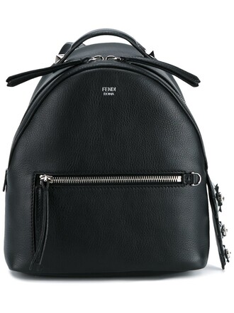 mini backpack mini backpack leather cotton black bag