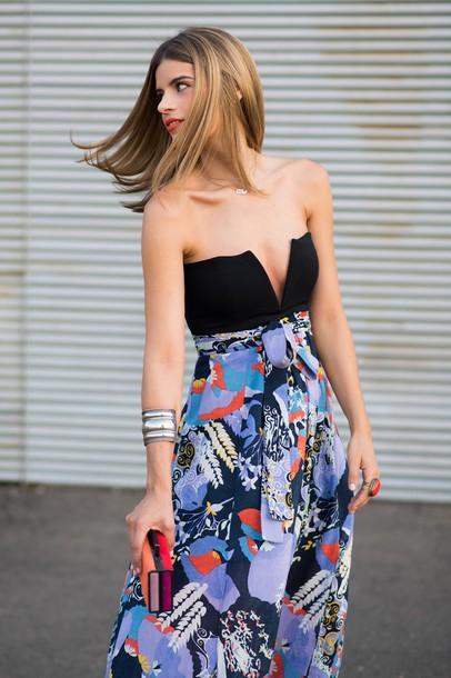 ms treinta blogger top shoes bag skirt