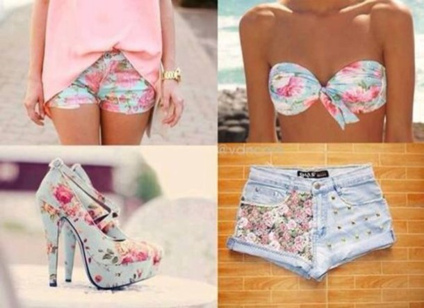 shorts bikini top
