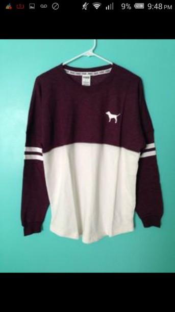 sweater maroon/burgundy shirt pink by victorias secret burgundy jersey sweater