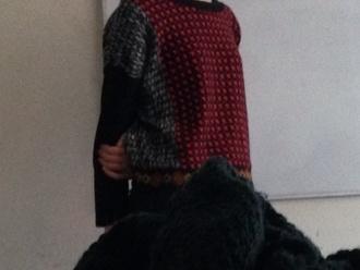 jumpsuit rouge noir gris