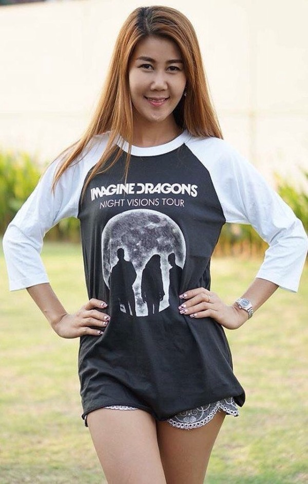 imagine dragons night visions baseball t shirt men women. Black Bedroom Furniture Sets. Home Design Ideas