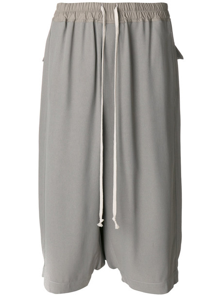 Rick Owens shorts women cotton grey