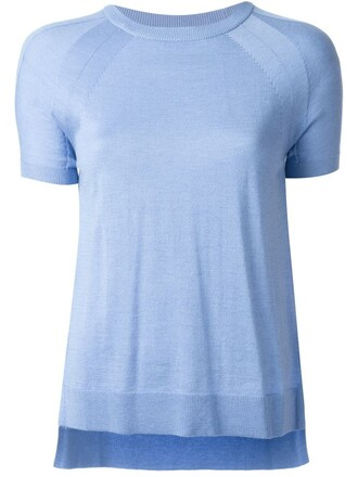 t-shirt shirt women blue top