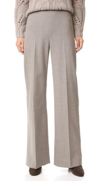 Lela Rose High Waist Pants - Taupe