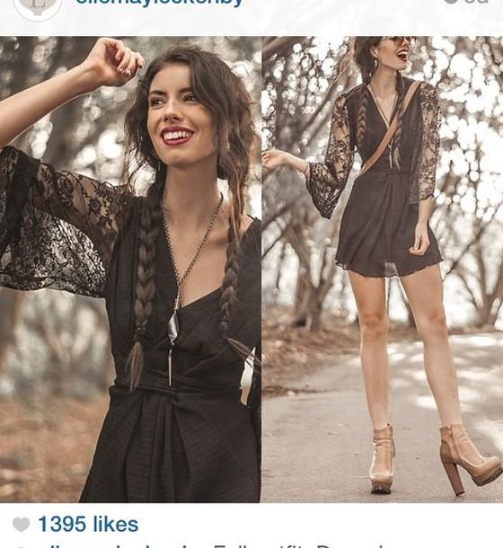 dress angel sleeve dress