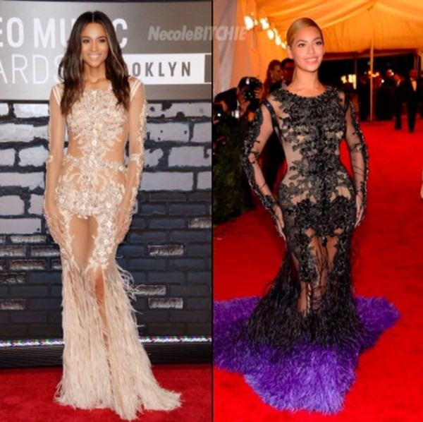 dress beyonce ciara black cream