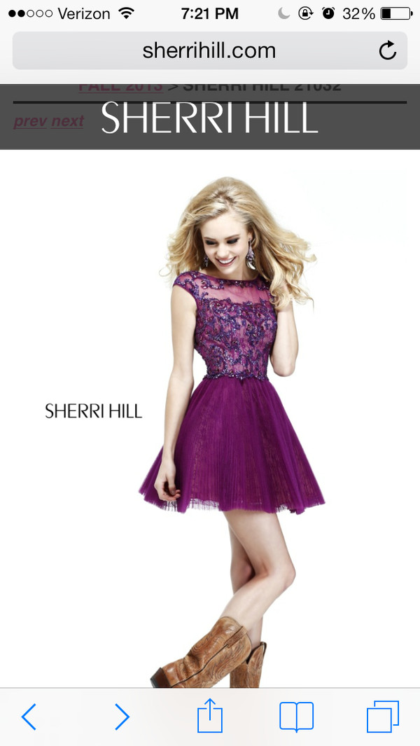 dress formal purple dress