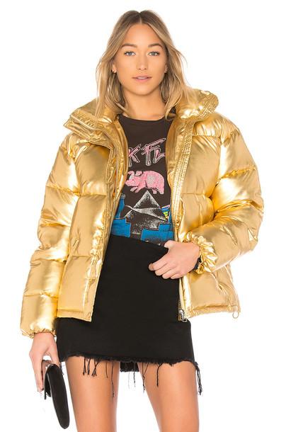 LPA jacket metallic gold