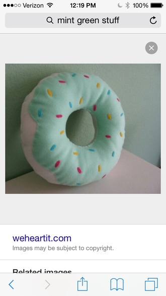 home accessory donut pillow
