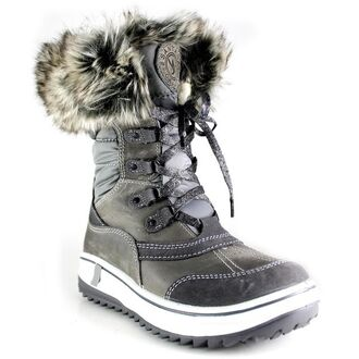 shoes grey shoes winter outfits grey boots fur faux fur winter boots white