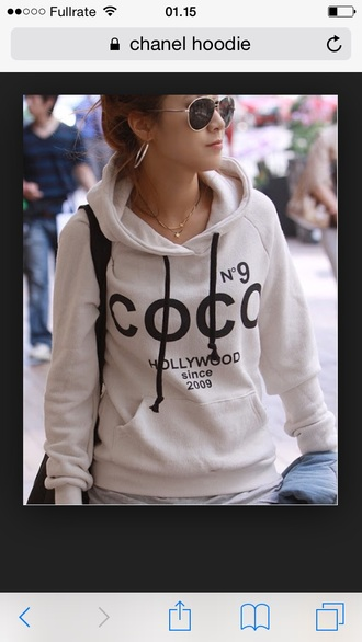 blouse chanel hoodie cotton white