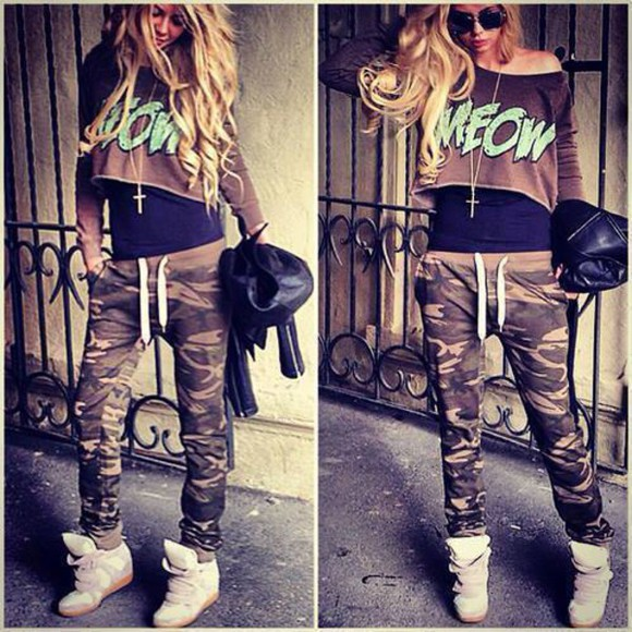 sweatpants top perfect amazing military fall outfits hoes vening