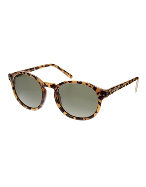 Cheap Monday | Cheap Monday Round Sunglasses in Honey Turtle at ASOS