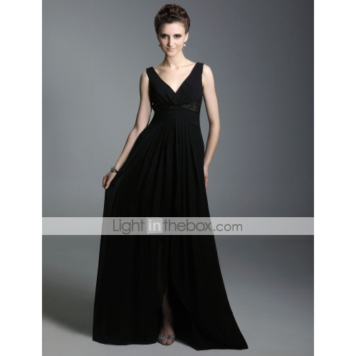Chiffon A-line V-neck Floor-length Evening Dress inspired by Sex and the City - US$ 149.99$149 dress available on lightinthebox.com - 웹