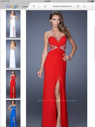 dress prom dress dres formal dress under $300 classy formal rhinestones red dress red prom dress mesh dress