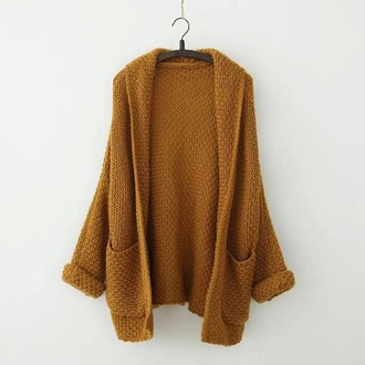top mustard oversized cardigan fall colors