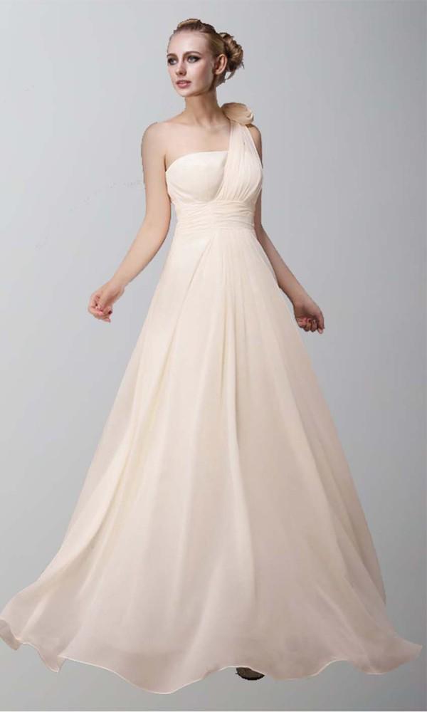 beige dress champagne dress one shoulder long prom dress bridesmaid bridesmaid formal dress chiffon dress