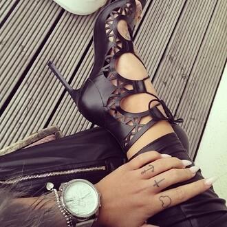 shoes black heels high heels heels sandals pumps