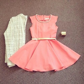 dress coral coral dress pink dress buisness cute dress brave pretty