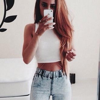 tank top jeans