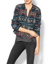 Pale Sky Aztec Cropped Jacket
