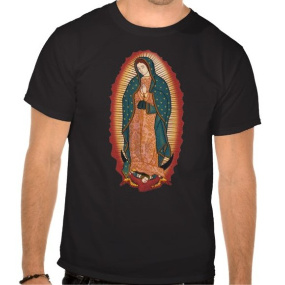 religious shirt black mexican t-shirt