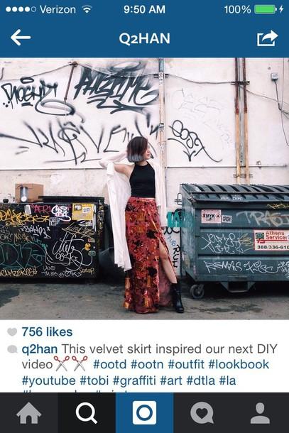 skirt cardigan crop tops shoes maxi skirt