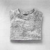 sweater,acne studios,grey sweater,gris chin,grey,pull,cute sweaters,white,marble,speckled,fluffy,warm,winter sweater,studios,chiné,fall outfits,winter outfits