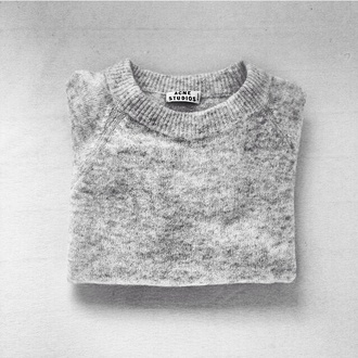 sweater acne studios grey sweater gris chin grey pull cute sweaters white gris pullover studios chiné fall outfits winter outfits