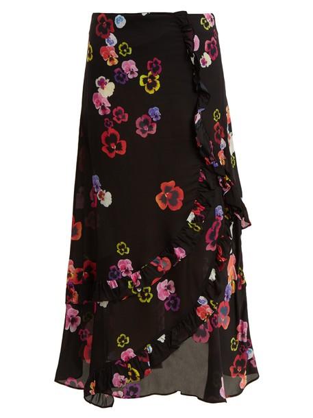 Preen Line skirt print black