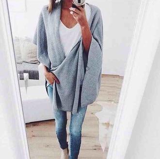 jacket gris long chaud