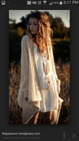 white sweater jewels long sweater knitted sweater