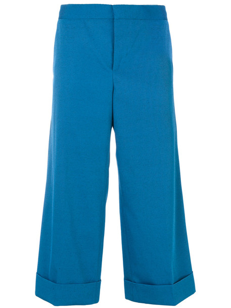 MARNI women blue wool pants