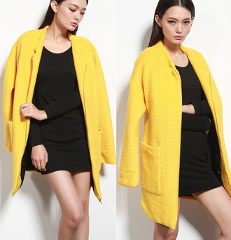 yellow trench coat coat yellow vintage fall outfits winter coat clothes fall outfits mixmoss.com