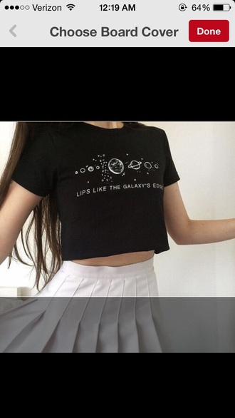 top t-shirt shirt black crop top crop crop tops black and white quote on it soft grunge pale grunge grunge t-shirt