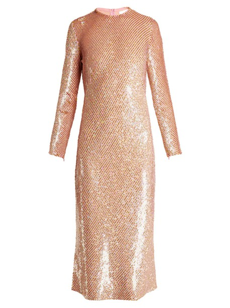 Ashish dress midi dress midi embellished pink