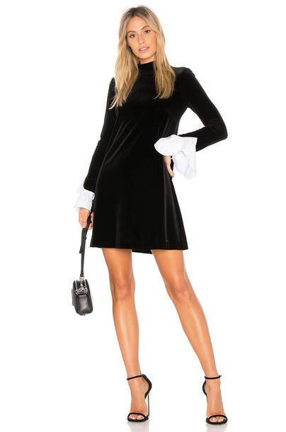 Bailey 44 dress long sleeve dress long dark black