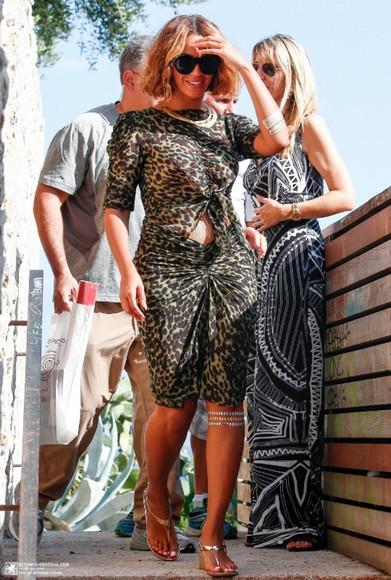 beyoncé summer outfits top skirt leopard print