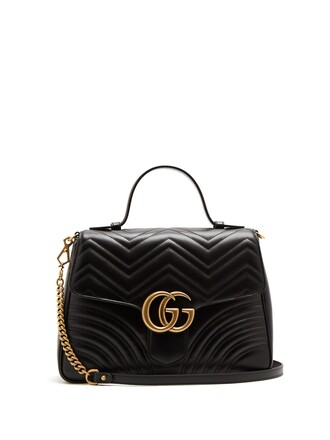 quilted bag leather black