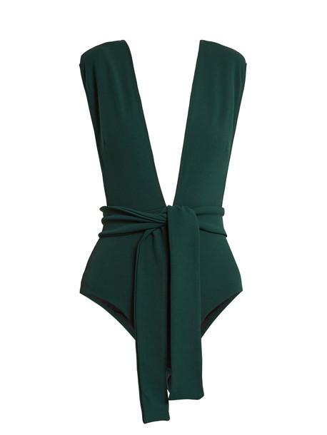 dark green swimwear