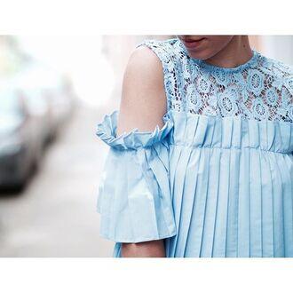 blouse style mafia blue lavender top